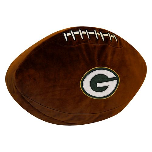 The Northwest Company Green Bay Packers Football Shaped Plush Pillow