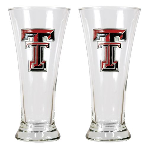 Great American Products Texas Tech University 19 oz. Pilsner Glasses 2-Pack