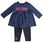 Colosseum Athletics Infant Girls' University of Mississippi Shining Polka Dot Dress Set