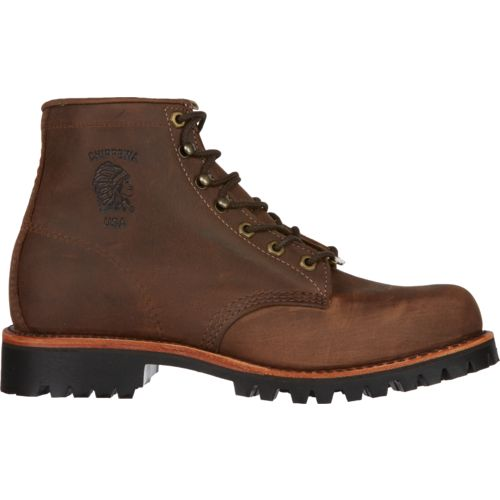 Chippewa Boots Men's Apache Classic Steel-Toe Lace-Up Rugged Outdoor Boots