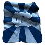 Logo University of North Carolina Raschel Throw