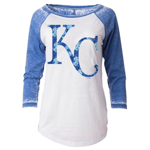 5th & Ocean Clothing Juniors' Kansas City Royals Burnout Wash Jersey