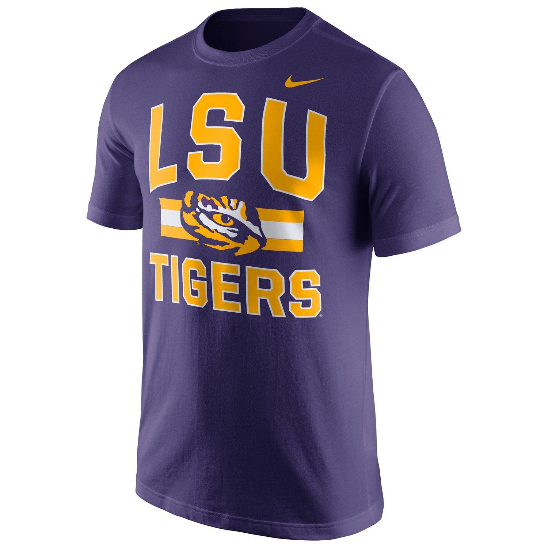 Nike Men's Louisiana State University Short Sleeve Cotton