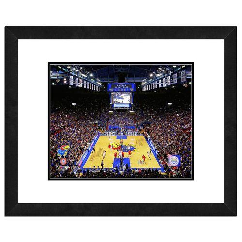 "Photo File University of Kansas Allen Fieldhouse 16"" x 20"" Matted and Framed Photo"