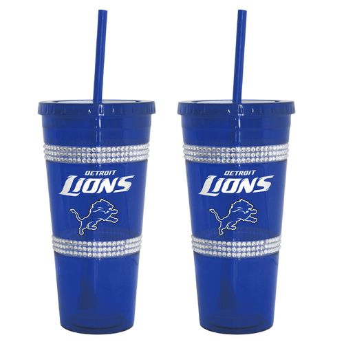 Boelter Brands Detroit Lions 22 oz. Bling Straw