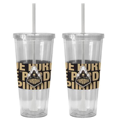 Boelter Brands Purdue University Bold Neo Sleeve 22 oz. Straw Tumblers 2-Pack