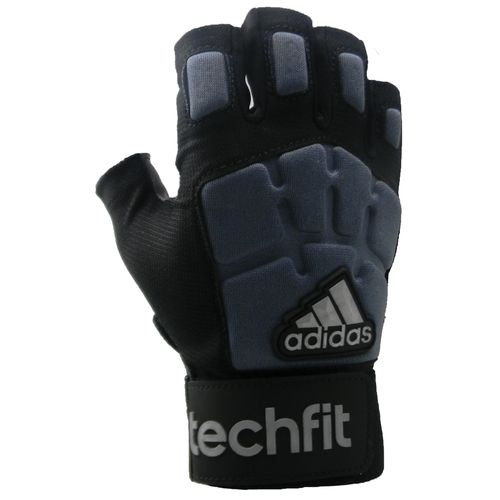 adidas Juniors' Techfit 1/2 Finger Lineman Football Gloves - view number 1