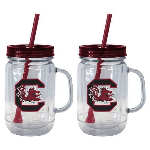 Boelter Brands University of South Carolina 20 oz. Handled Straw Tumblers 2-Pack