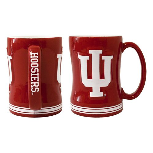 Boelter Brands Indiana University 14 oz. Relief Mugs 2-Pack