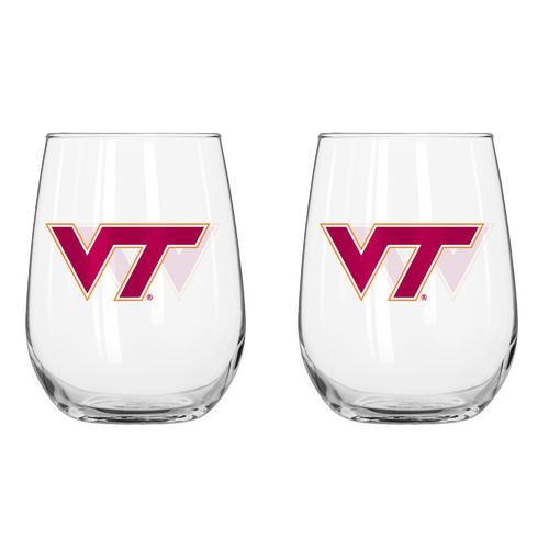 Boelter Brands Virginia Tech 16 oz. Curved Beverage Glasses 2-Pack