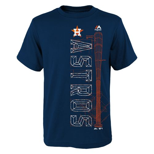 Majestic Boys' Houston Astros Baseball Equipment Short Sleeve T-shirt