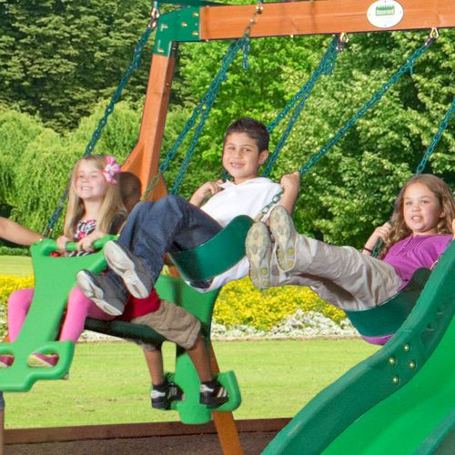Backyard Discovery™ Shenandoah Wooden Swing Set - view number 4