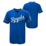 Majestic Boys' Kansas City Royals Lead Hitter V-neck T-shirt