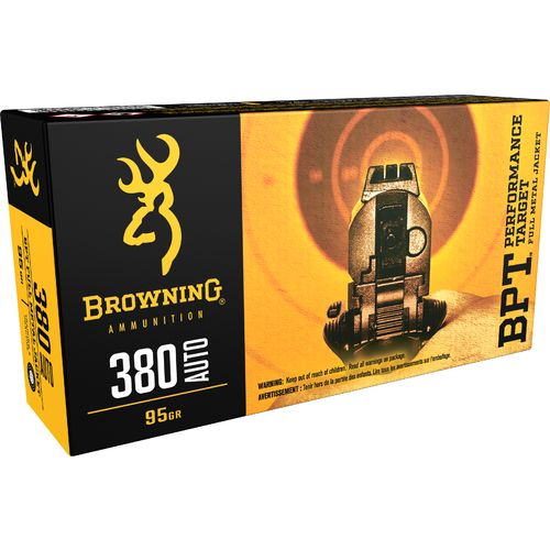 Browning Performance Target .380 Caliber 95-Grain Centerfire Pistol Ammunition