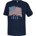 Academy Sports + Outdoors™ Kids' Americana 2016 Faux Patch Flag T-shirt