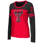 Colosseum Athletics™ Women's Texas Tech University Hornet Football Long Sleeve T-shirt