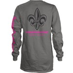 Three Squared Juniors' University of Louisiana at Lafayette Cynthia Pocketed Long Sleeve T-shirt