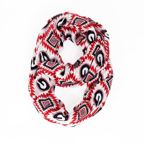ZooZatz Women's University of Georgia Southwest Infinity Scarf