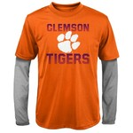 Gen2 Kids' Clemson University Bleachers Double Layer Long Sleeve T-shirt