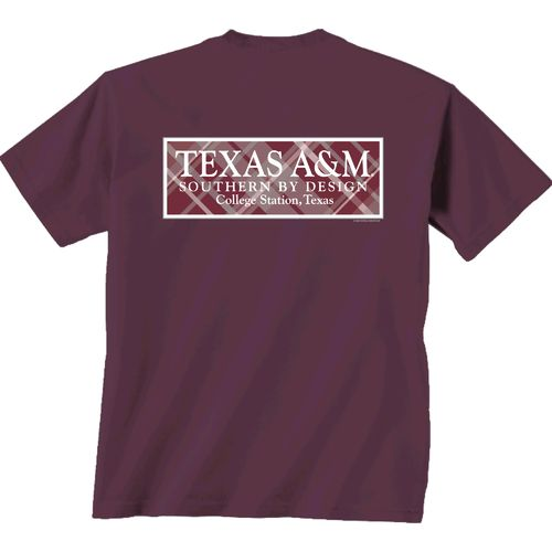 New World Graphics Women's Texas A&M University Madras T-shirt