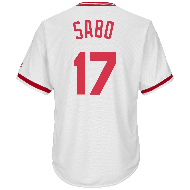 Majestic Men's Cincinnati Reds Chris Sabo #17 Cool Base Cooperstown Jersey - view number 2