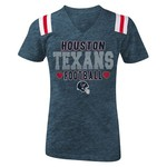 5th & Ocean Clothing Girls' Houston Texans Glitter Fan T-shirt