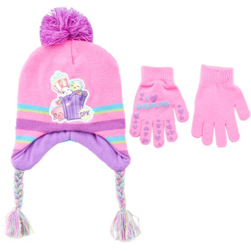 ABG Accessories Girls' Shopkins Hat and Gloves Set