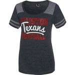 5th & Ocean Clothing Juniors' Houston Texans Script Fan T-shirt