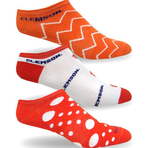 Topsox Women's Clemson University No-Show Socks 3 Pairs