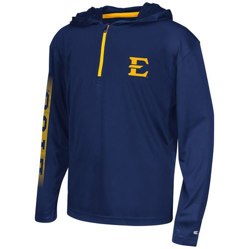Colosseum Athletics™ Boys' East Tennessee State University Sleet 1/4 Zip Hoodie Windshirt
