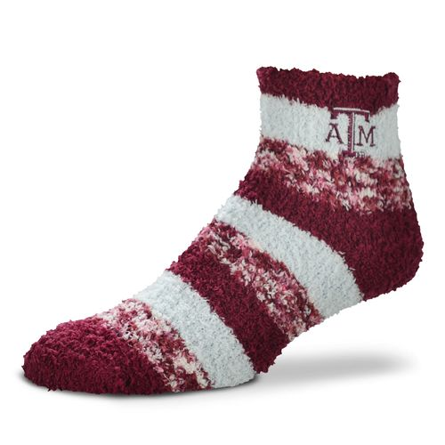 FBF Originals Women's Texas A&M University Pro Stripe Sleep Soft Socks
