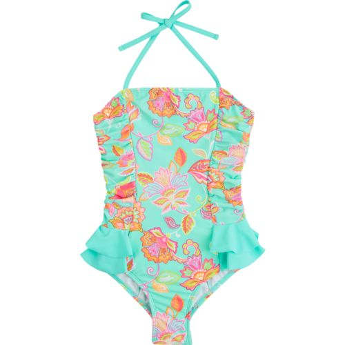 O'Rageous Kids Girls' Havana Bloom 1-Piece Bathing Suit