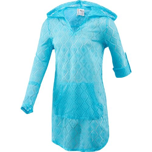 O'Rageous Girls' Crochet Hooded Cover-Up - view number 1