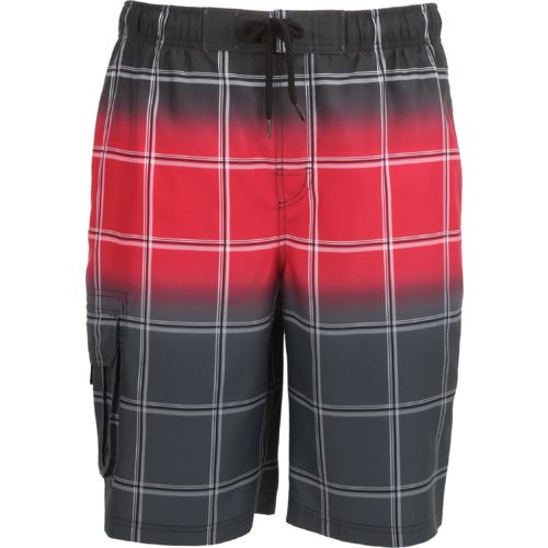 O'Rageous Men's Ombre Plaid E Boardshort