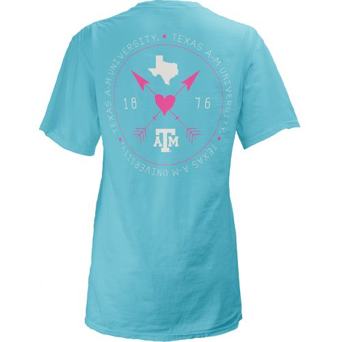 Three Squared Juniors' Texas A&M University Boho Arrow Pocketed T-shirt