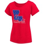 Colosseum Athletics™ Girls' Louisiana Tech University Tissue 2017 T-shirt - view number 1