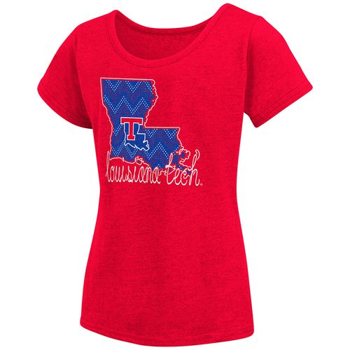 Colosseum Athletics™ Girls' Louisiana Tech University Tissue 2017 T-shirt