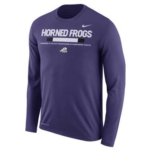 Nike Men's Texas Christian University Dry Legend Long Sleeve Staff T-shirt