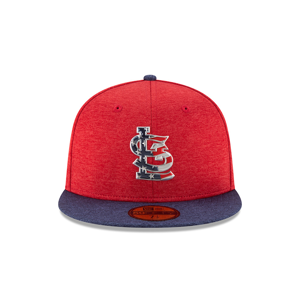 New Era Men's St. Louis Cardinals Stars and Stripes 2T '17 59FIFTY Cap - view number 1