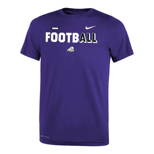 Nike™ Boys' Texas Christian University Legend Football T-shirt