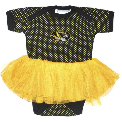 Two Feet Ahead Infant Girls' University of Missouri Pin Dot Tutu Creeper