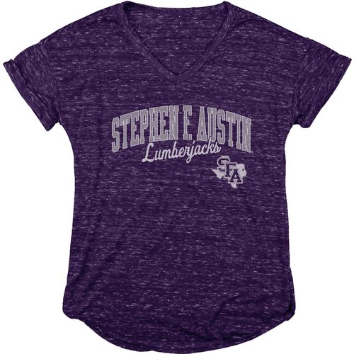 Blue 84 Women's Stephen F. Austin State University Dark Confetti V-neck T-shirt
