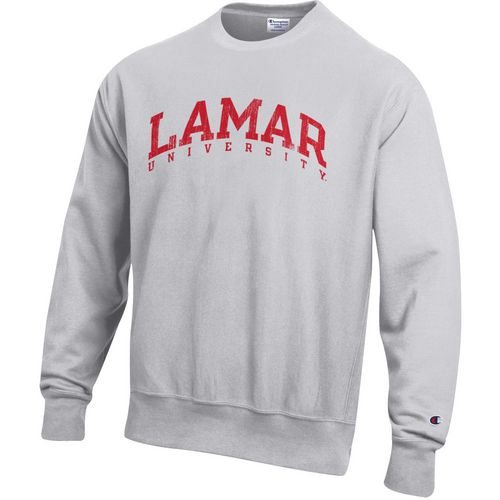 Champion Men's Lamar University Reverse Weave Crew Sweatshirt
