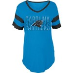5th & Ocean Clothing Women's Carolina Panthers Sleeve Stripe Fan T-shirt - view number 1