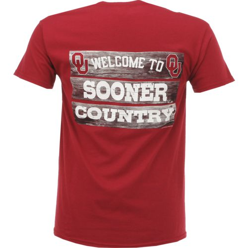 New World Graphics Men's University of Oklahoma Welcome Sign T-shirt