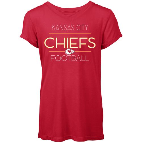 5th & Ocean Clothing Women's Kansas City Chiefs Between the Lines T-shirt