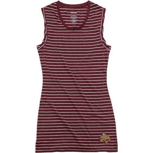 Boxercraft Women's Texas State University Striped Sleep T-shirt