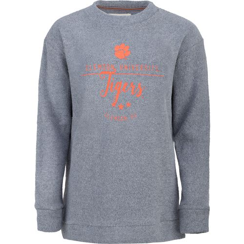 Three Squared Juniors' Clemson University Finley Comfy Terry Pullover