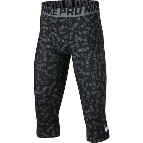 Nike Boys' Pro 3/4-Length Printed Tights