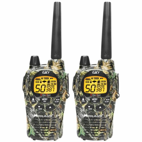 Midland Pro Series GXT-1050-VP4 GMRS 2-Way Radio Value Pack in Mossy Oak Camo